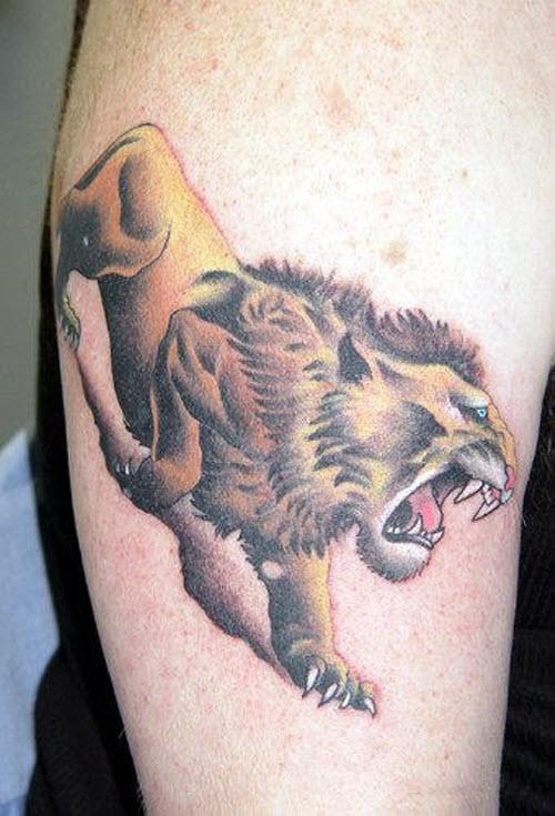 Крадущийся тигр тату фото - 8