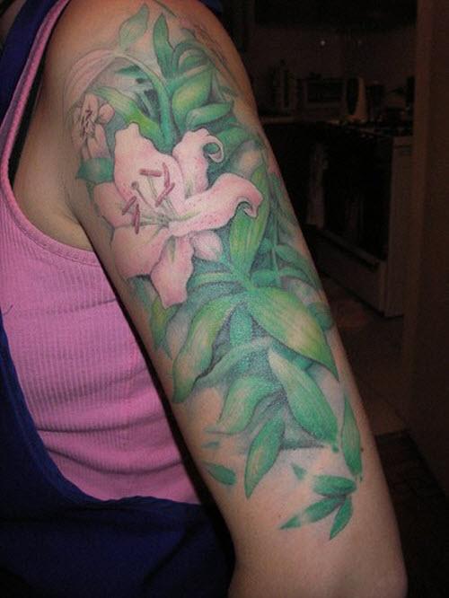 Красивые женские тату на руке фото - 1