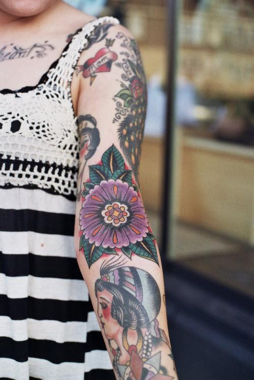 Красивые женские тату на руке фото - 5
