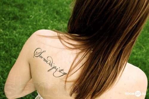 Красивые тату надписи для девушек фото - 7