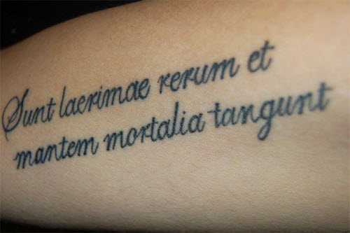Красивый шрифт для тату на латыни фото - 7