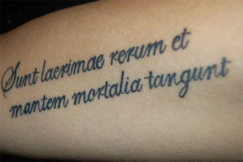 Красивый шрифт для тату на латыни фото - 8