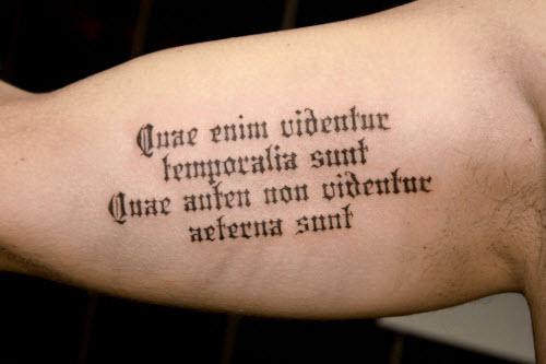 Красивый шрифт для тату на латыни фото - 9