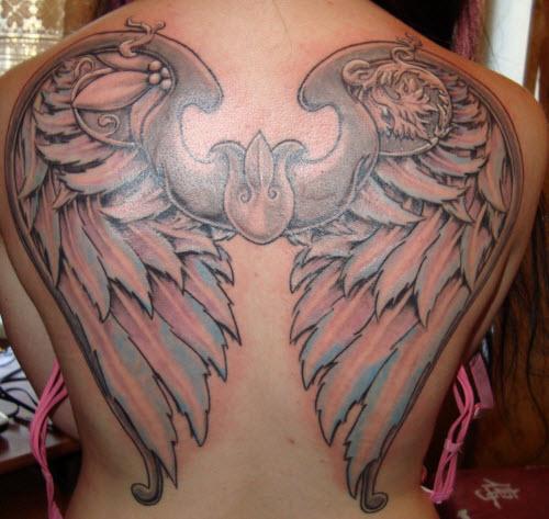 Крылья ангела на спине тату фото - 1