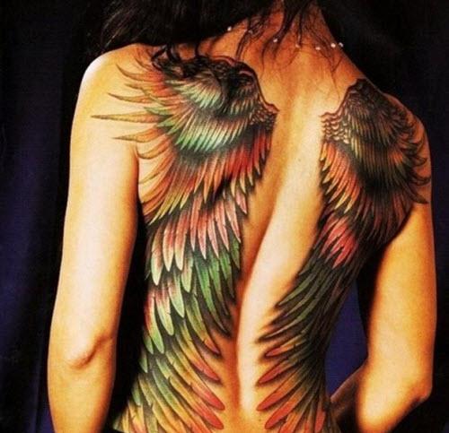 Крылья ангела на спине тату фото - 3