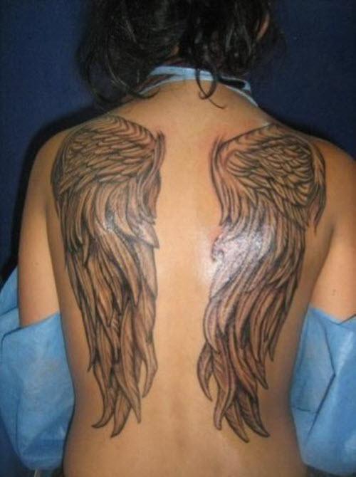 Крылья ангела на спине тату фото - 7