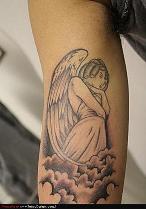 Крылья ангела тату фото на руке - 7