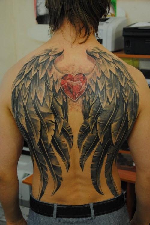Крылья на всю спину тату фото - 2
