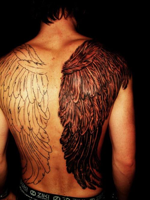 Крылья на всю спину тату фото - 7