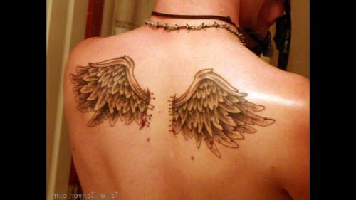 Крылья во всю спину тату фото