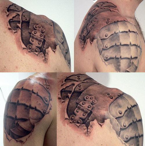 Латы на плече тату фото - 8