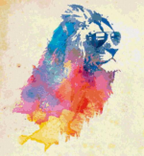 Лев в очках тату фото