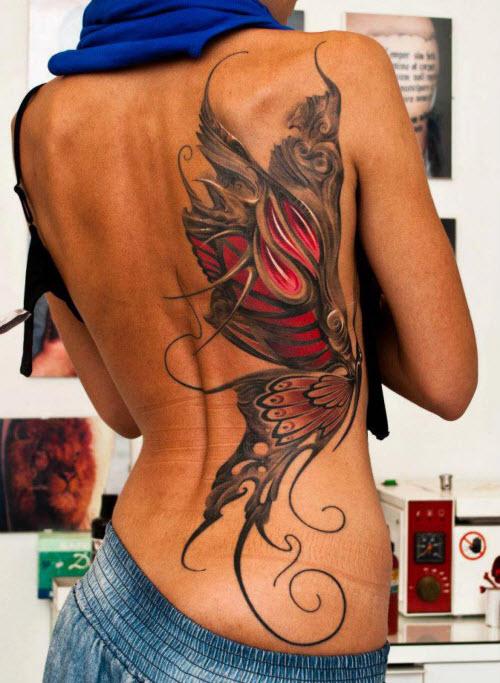 Лучшие женские тату на пояснице фото - 6