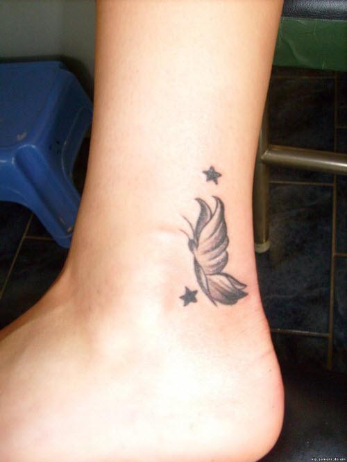 Маленькие женские тату на ноге фото - 8