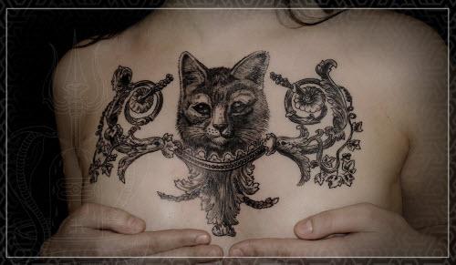 Маленькие тату на грудине фото женские - 7