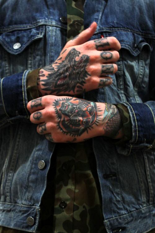 Мужское тату на кисти руки фото