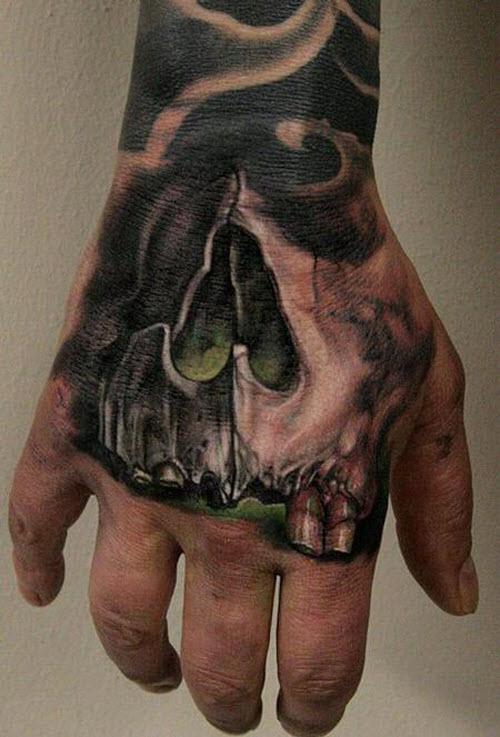 Мужское тату на кисти руки фото - 3