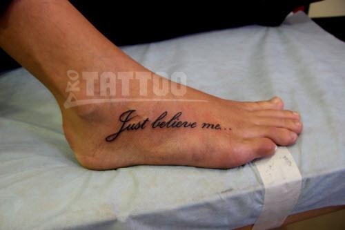 Надпись для тату на ноге фото - 1