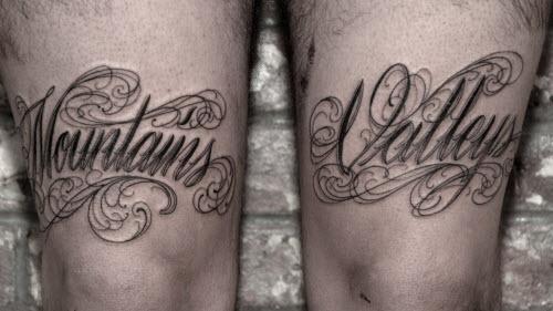 Надпись для тату на ноге фото - 3