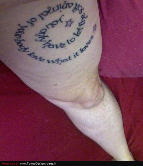 Надпись для тату на ноге фото - 8