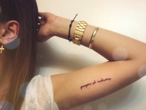 Ты навсегда в моем сердце на латыни тату на