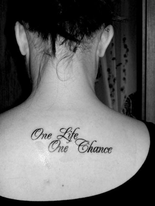 Одна жизнь одна любовь тату на латыни фото на руку - 6