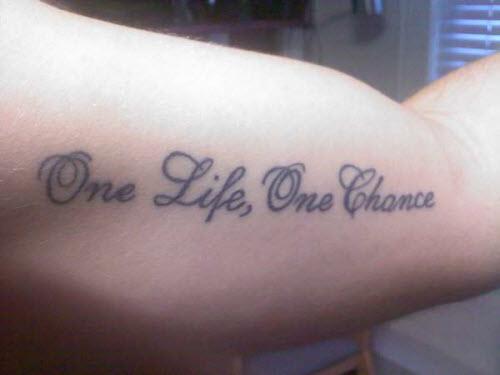 Одна любовь на всю жизнь тату фото