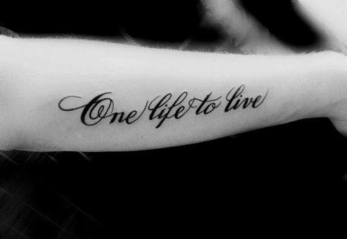 Одна любовь на всю жизнь тату фото - 5