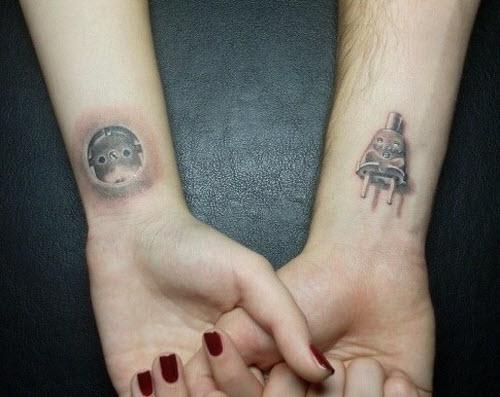 Парные тату для влюбленных надписи фото - 4