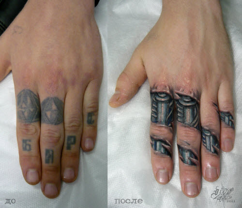 Переделанные тату на запястье фото - 2