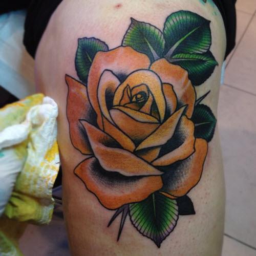 Розы на коленях тату фото - 5