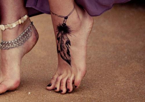 Самые красивые тату на ноге фото - 2