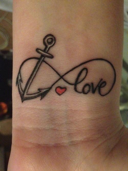 Символ вечной любви тату фото - 5