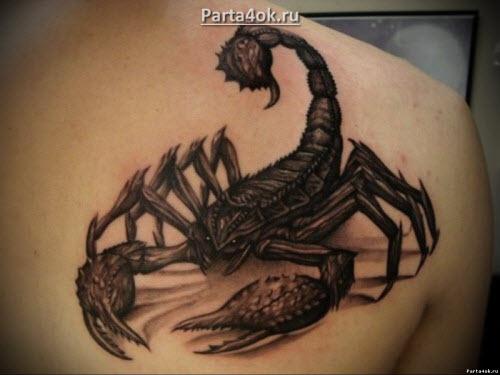 Скорпион тату фото 3d - 5