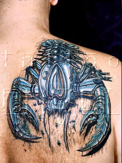 Скорпион тату фото 3d - 7