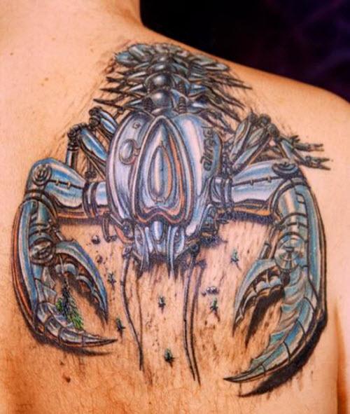 Скорпион тату фото 3d - 9