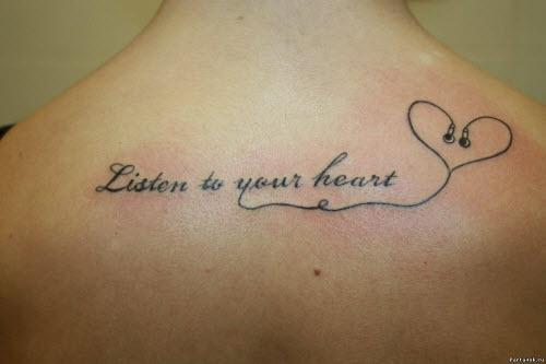 Слушай свое сердце тату фото
