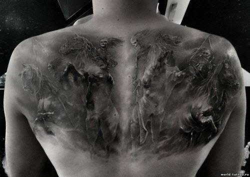 Смерть на всю спину тату фото - 2