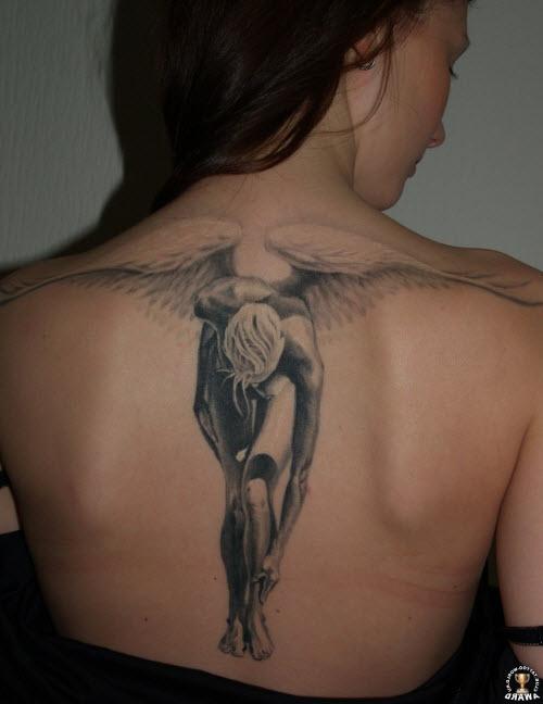 Тату ангел фото женское - 4