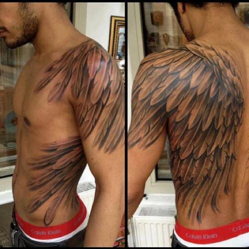 Тату ангел с крыльями фото