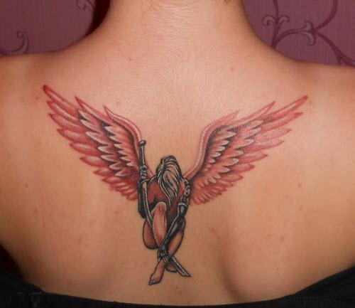 Тату ангел с крыльями фото - 1