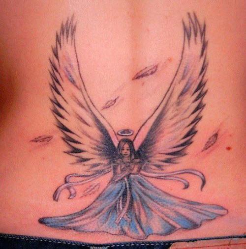 Тату ангел с крыльями фото - 9