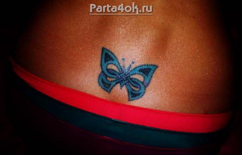 Тату бабочек на пояснице фото - 4