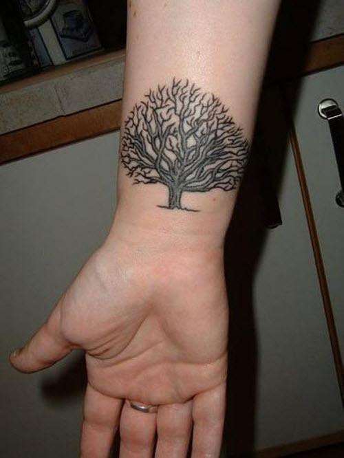 Тату дерево жизни на руке фото - 2