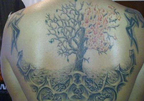 Тату дерево жизни на руке фото - 6