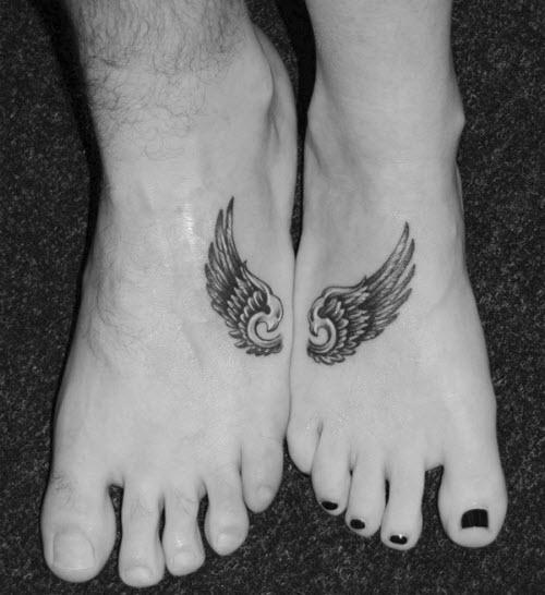 Тату для двоих на ноге фото - 5