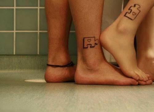 Тату для двоих на ноге фото - 6
