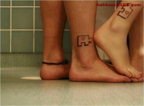 Тату для двоих на ноге фото - 9