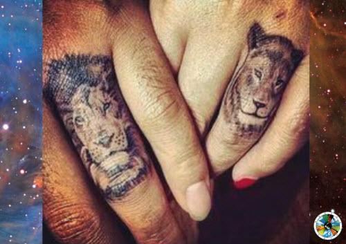 Тату для пары фото львы на пальцах - 2