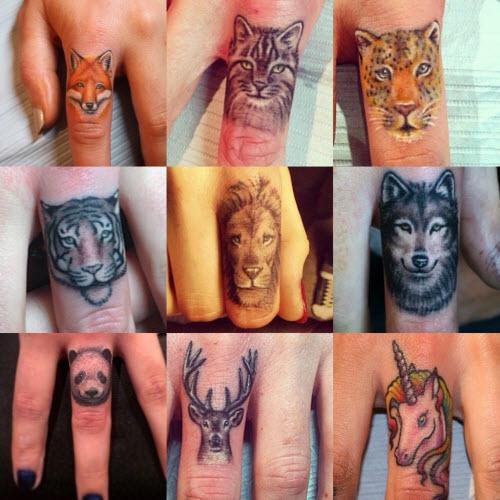 Тату для пары фото львы на пальцах - 6